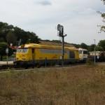 Les locomotives dédiées aux travaux ( photo M.L. )