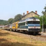 Le train spécial en gare des Versannes